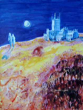 Gloucester Cathedral Moonlit Field of Dreams