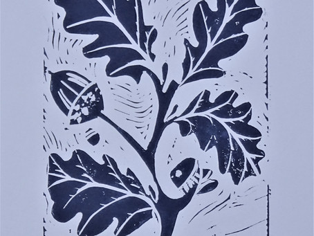 'Mighty Oak' - Linoprint