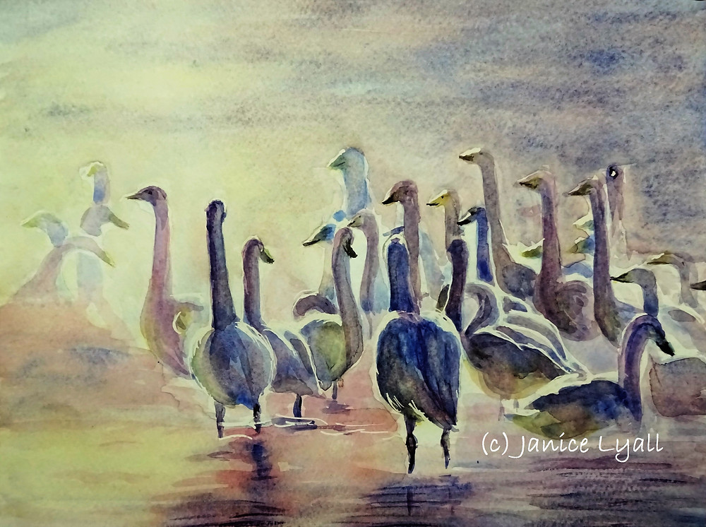 Early Morning on the Lake painting by Janice Lyall