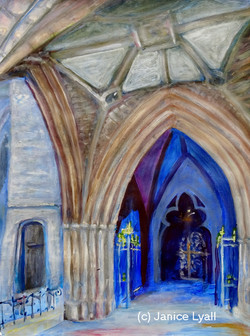 Hereford Cathedral through the Open Door