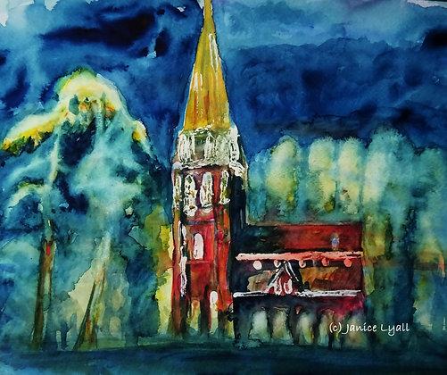 'Highnam Church at Night'