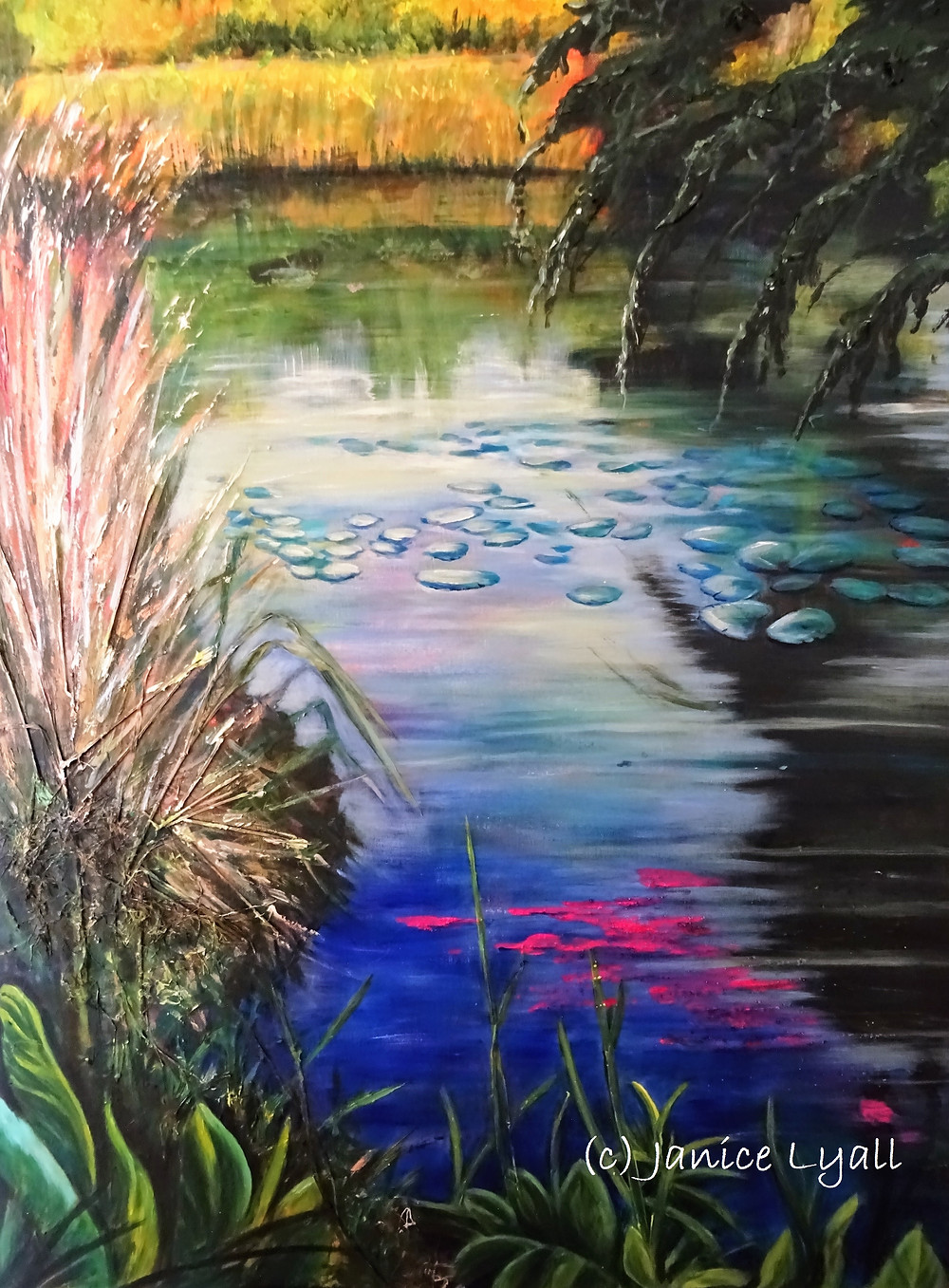 Painting by Janice Lyall 'Spring Along the Towpath'