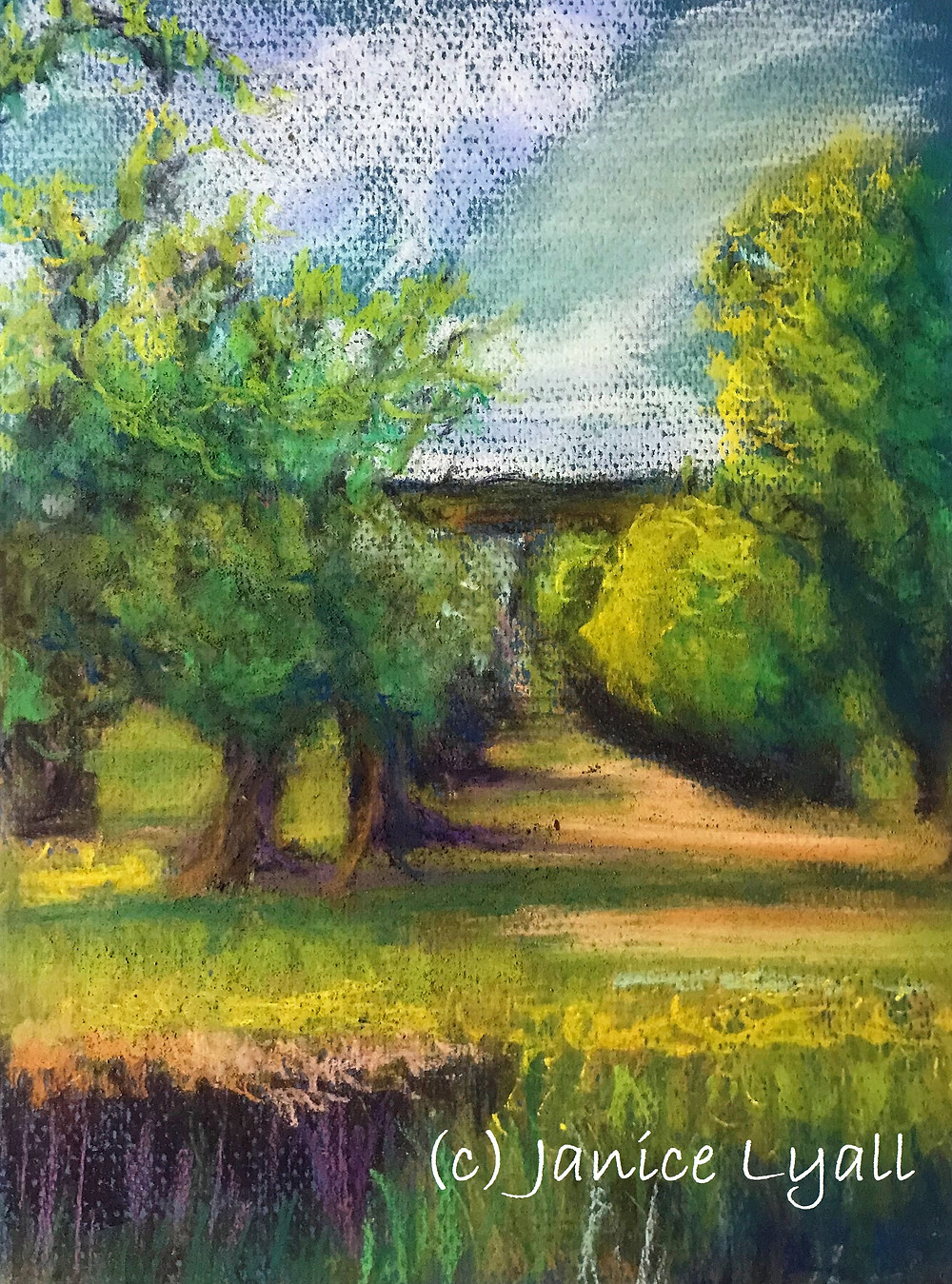 'The Old Orchard' pastel painting by Janice Lyall