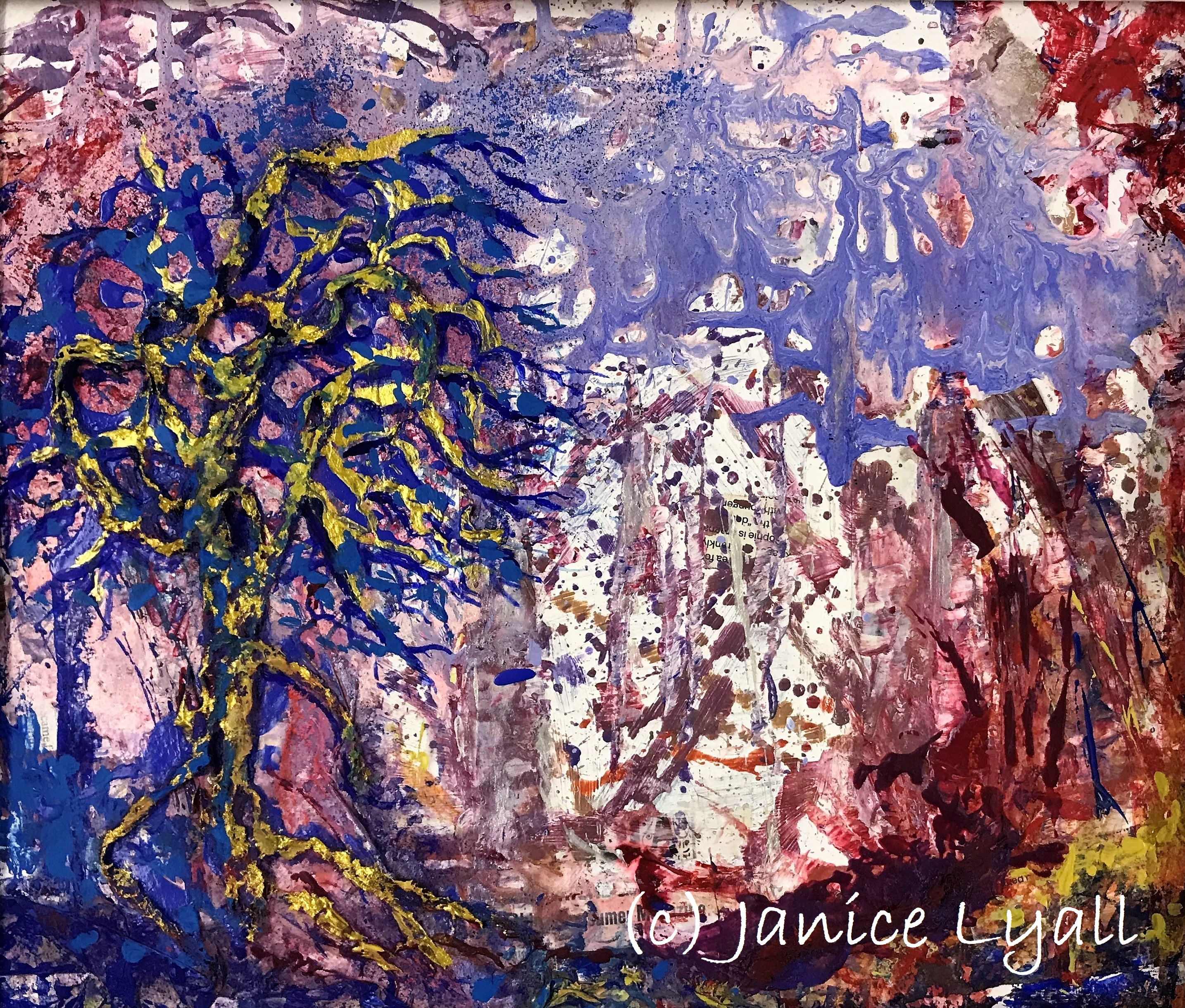 'Woods Abstracted' by Janice Lyall