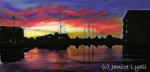 'Sunset outside the Studio'