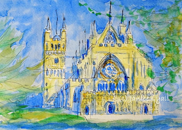 Exeter Cathedral - a very quick sketch