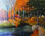 Janice Lyall Painting Colours of Autumn
