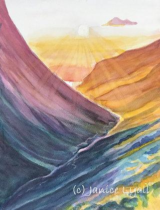 'Sun on the Peaks'