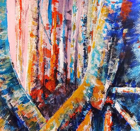 'Early Morning Sun through Tall Trees'