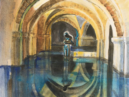 'Winchester Cathedral in Flood'