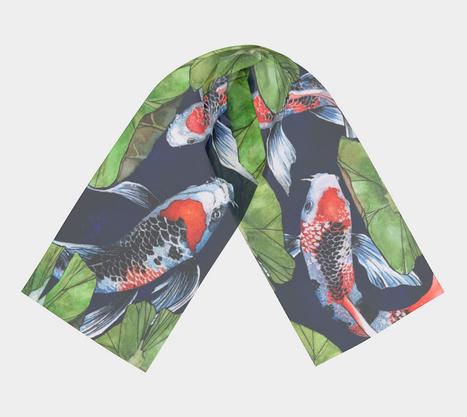 Koi Fish Silk Scarf