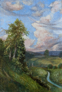 Cloudy Sky, Original Landscape Painting