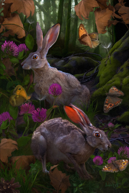 The Hares Painting