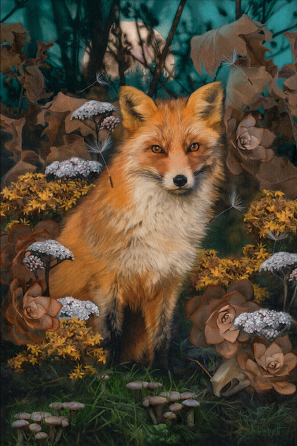 The Fox In The Forest Painting