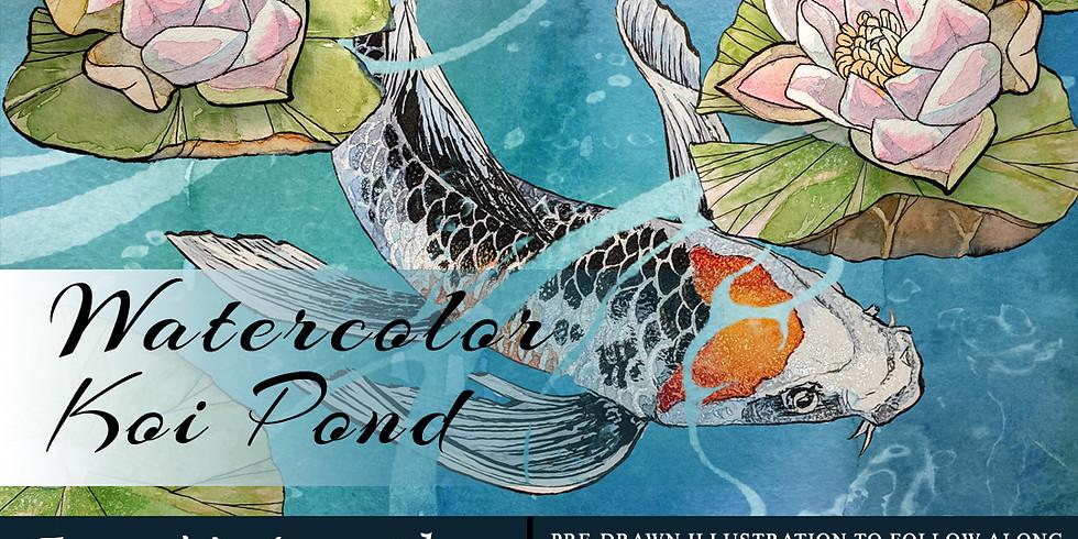 Watercolor Koi Pond