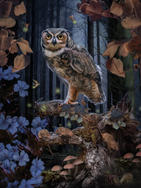 The Owl Painting