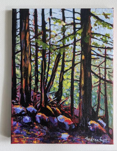 En Plein Air Shannon Falls Forest, Squamish BC.