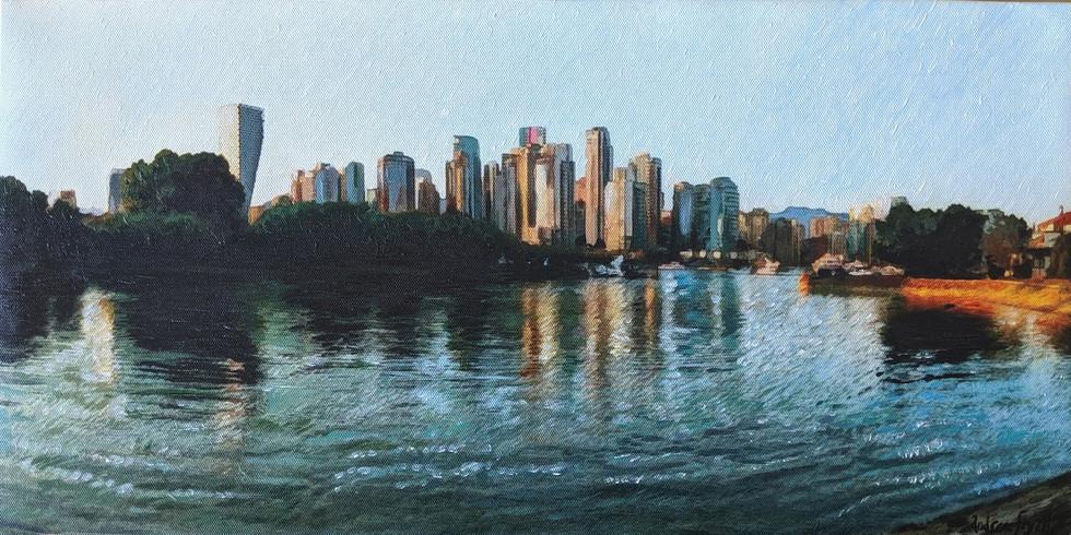 Vancouver Sea Wall at Sunset