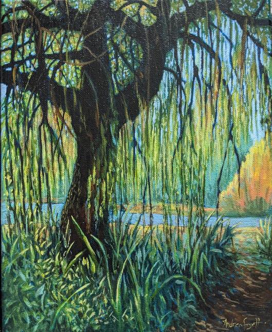 En Plein Air Willow Tree in Trout Lake Vancouver.