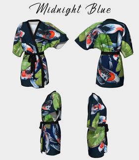 Kimono Robe Midnight Blue