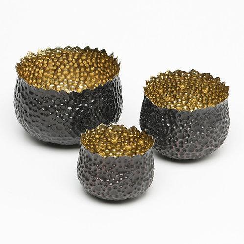 Bubble Brass Nesting Bowls