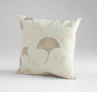 Square accent pillow with white, brown and beige/tan/taupe at Sofa Outlet Custom Comfort.