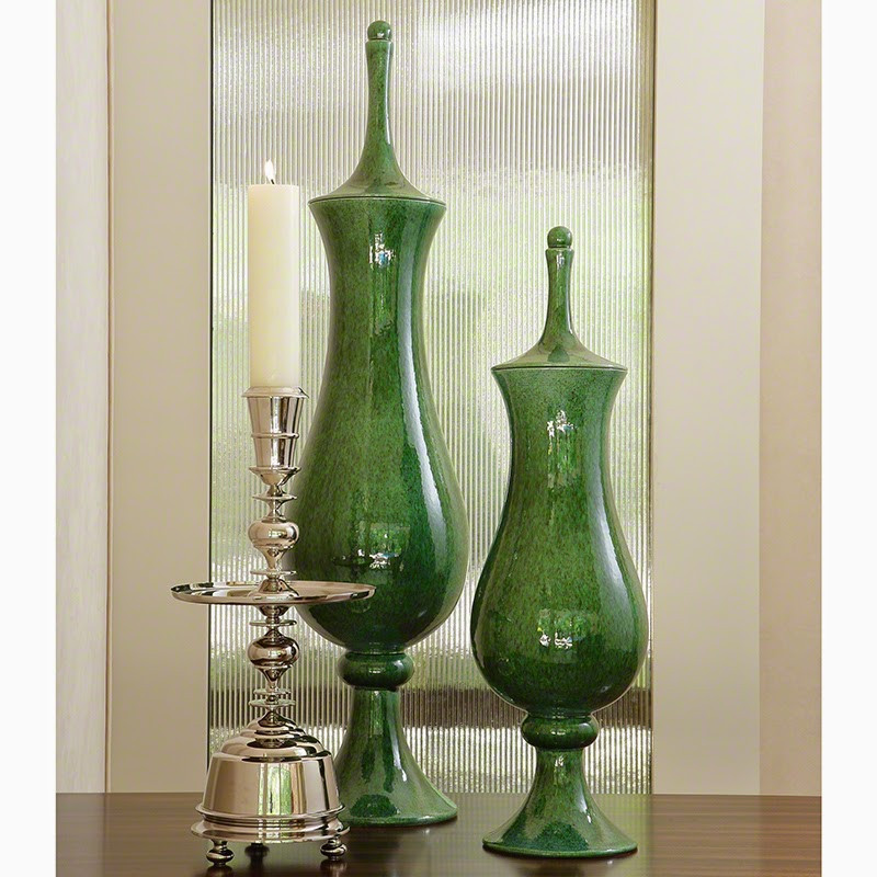 tall silver candle holders decorative green vases apothecary style accent decor for home and office in redwood city atherton woodside portola valley