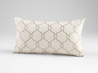 White accent pillow at Sofa Outlet near Redwood City furniture stores.