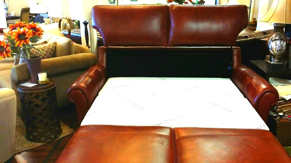leather storage sofa pull out bed