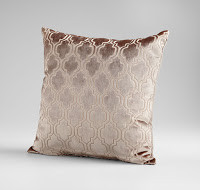 Patterned accent pillow in brown and tan at Sofa Outlet in the San Francisco Bay Area.