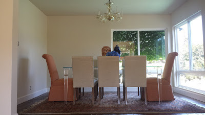 Dining room tables and chairs - with faric at Sofa Outlet near the South Bay.