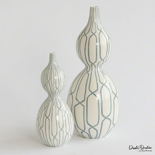 Linking Trellis Double Bulb Vase