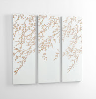 Wall art - white mimimalist with tan and beige willowy tree branches. Sofa Outlet has a big selection of art work, wall art and more.