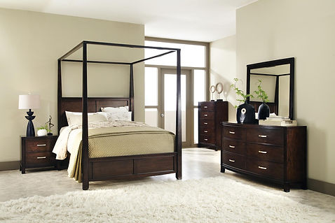 Upholstered beds can be made with your choice of fabrics, with or without nail heads.