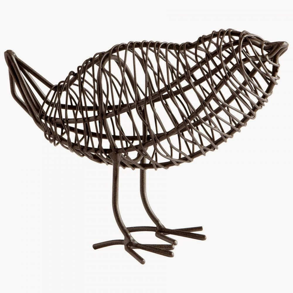 wire bird basket for home and office decor a little birdie told me in san mateo