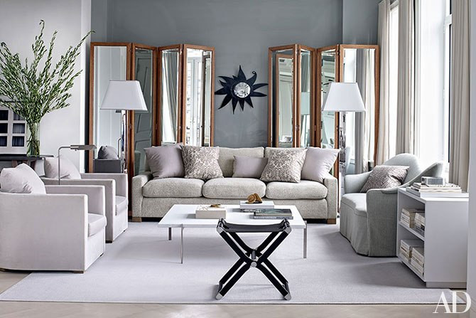 using shades of color in the living room