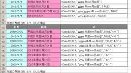 Excel 令和対応の日付表示ユーザー定義関数