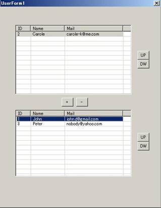 Excel VBA 2つのListview間でアイテムをドラッグ&ドロップで移動したり、並べ替えたりする