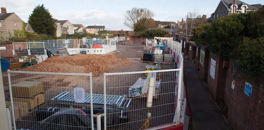 In 2016 contractors moved onto the site.    The land was used as a works yard during the electricfication work on the railway. Although the work was needed there was a lot of disruption and noise for Splott residents.