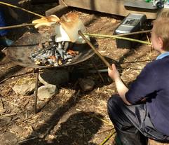 Marshmallows around the campfire