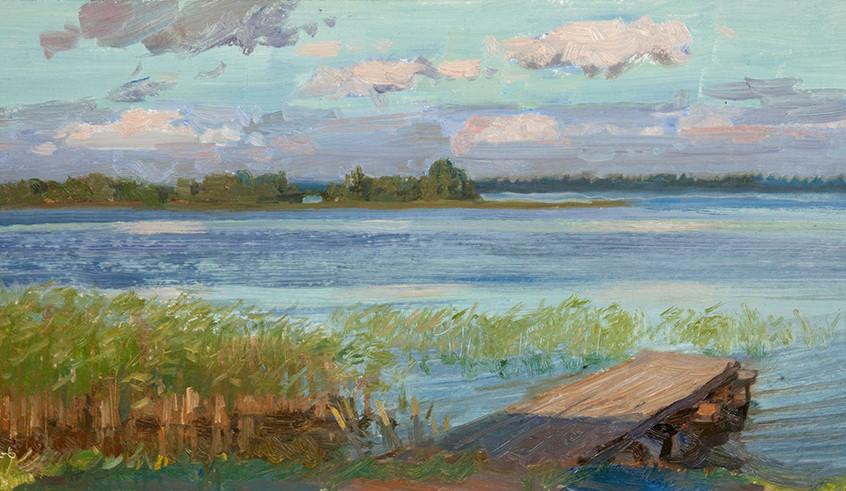 Вечер на Онежском озере
