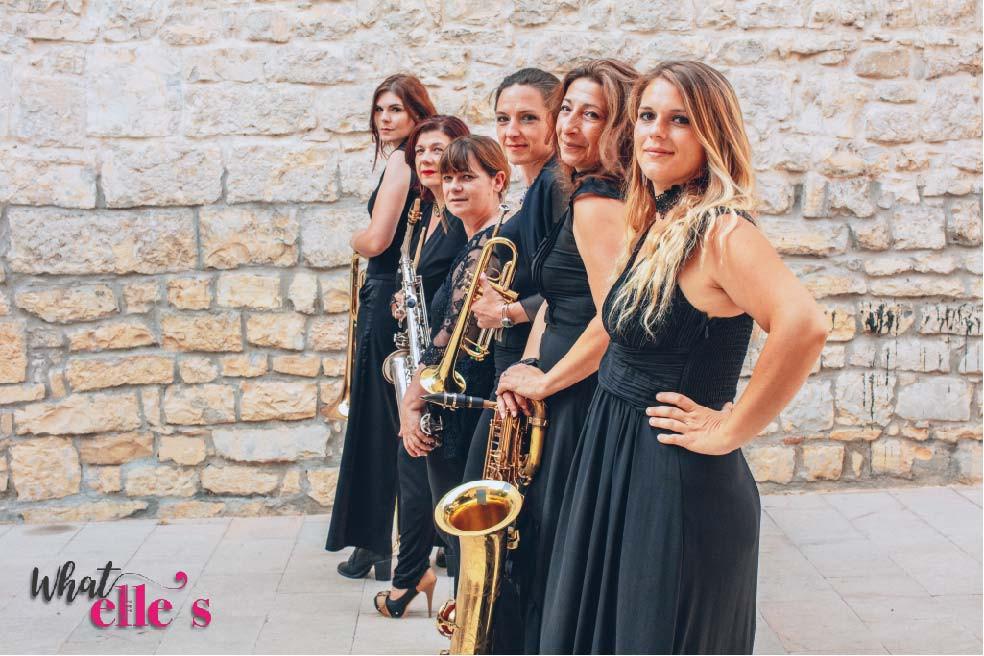 De la scène à la rue, 6 Miss, des effluves musicales aux parfums jazz, latins et funky, des arômes de rythm'&blues ... What Elle's !