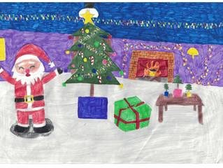 Aluno participa da etapa estadual do Concurso de Cartões de Natal