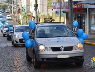 Carreata homenageia Dia Mundial de Conscientização do Autismo