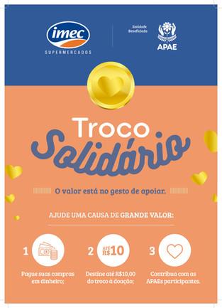 Troco Solidário da rede Imec beneficiará a Apae Lajeado