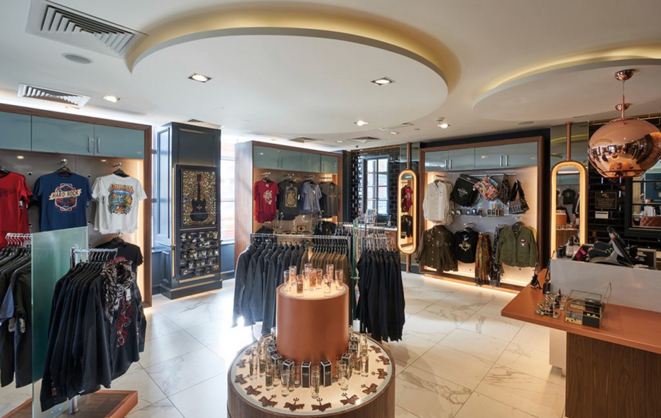 Hard Rock Dublin - Shop Interior