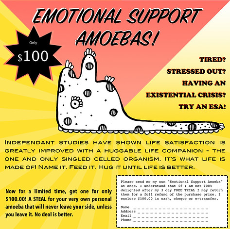 Emotional Support Amoebas: Ad