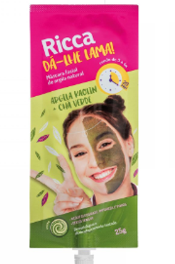 Máscara facial de argila natural Dá-lhe Lama Ricca