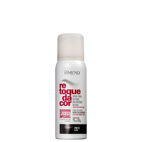 Amend Spray Retoque da Cor Preto - Corretivo de Raiz 75ml