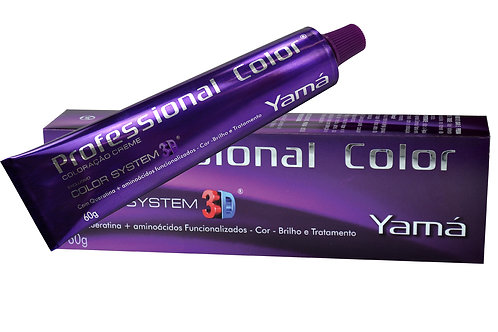 Yamá Coloração Professional Color 3D 9.1 – Louro Muito Claro Acizentado 60g